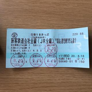 ジェイアール(JR)の青春 18きっぷ 1回分(鉄道乗車券)