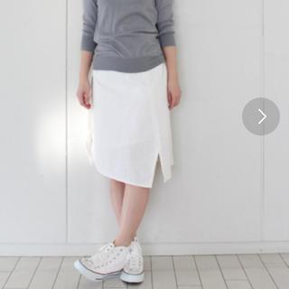 ハコ(haco!)のhaco! 綿麻スカート(ひざ丈スカート)