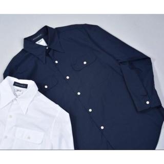 マディソンブルー(MADISONBLUE)のマディソンブルー MADISON BLUE ハンプトンシャツ ネイビー サイズ1(シャツ/ブラウス(長袖/七分))