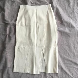 マリリンムーン(MARILYN MOON)のニットスカート(ひざ丈スカート)
