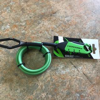 キャノンデール(Cannondale)のサイクル用携帯鍵『キャノンデール ナムロック2 緑』5mm×180cm 3桁番号(その他)