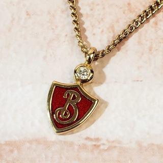 バーバリー(BURBERRY)の美品 バーバリーズ ☆ ヴィンテージ ロゴ ネックレス 赤(ネックレス)