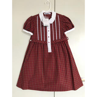 ファミリア(familiar)の新品 未使用 ファミリア ワンピース 120 女の子 ファミリアチェック 丸襟(ワンピース)