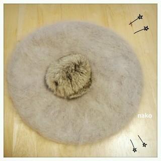 アースミュージックアンドエコロジー(earth music & ecology)のアースミュージック アンゴラベレー帽(ハンチング/ベレー帽)