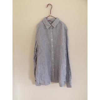 ムジルシリョウヒン(MUJI (無印良品))の無印良品*麻素材ストライプシャツ(シャツ/ブラウス(長袖/七分))