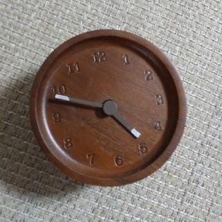 ムジルシリョウヒン(MUJI (無印良品))のウォールナット時計お値下げ(掛時計/柱時計)