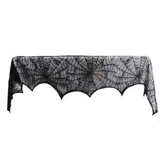 ハロウィンの装飾のための暖炉の布1ピースレーススパイダーウェブ【新品・送料無料】(その他)