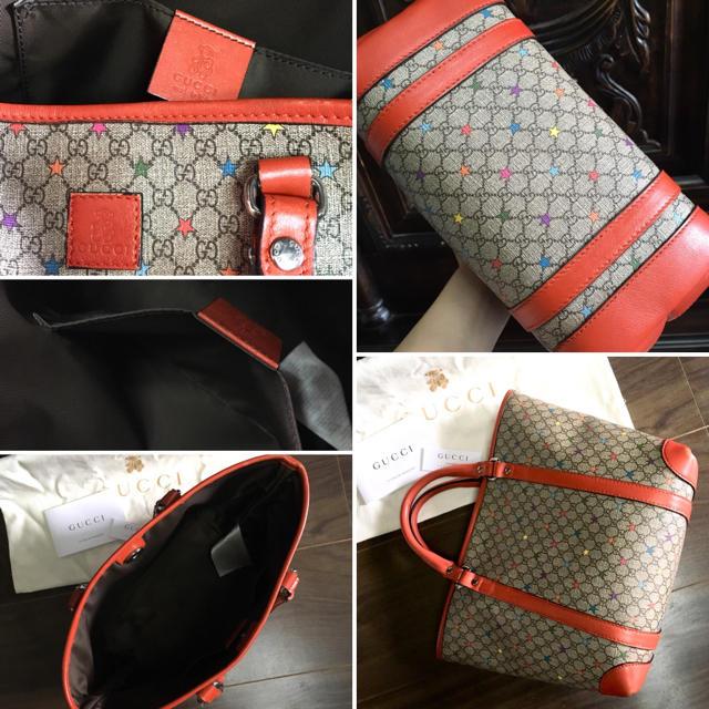 1b59404720d3 Gucci(グッチ)のGUCCI キッズライン モノグラム 星柄 ミニトート ハンドバッグ レディースのバッグ