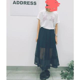エックスガール(X-girl)のADDRESS メッシュスカート(ロングスカート)