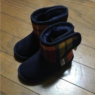 シマムラ(しまむら)の新品 タグ付き ハリスツィード ムートンブーツ(ブーツ)
