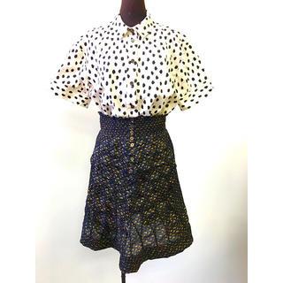 ツモリチサト(TSUMORI CHISATO)のTSUMORI CHISATO シルクシャーリングスカート(ひざ丈スカート)