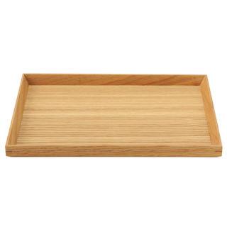 ムジルシリョウヒン(MUJI (無印良品))の無印良品 木製 角型トレー 約幅27×奥行19×高さ2cm(収納/キッチン雑貨)