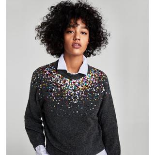 ザラ(ZARA)の完売品 ザラ カラースパンコール セーター ニット シャツ ブーツ サンダル(ニット/セーター)