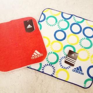 アディダス(adidas)の新品 未使用 adidas ハンドタオル ハンカチ 日本製 ウォーキング 通勤(ハンカチ)