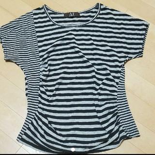 エーティー(A/T)のA/TボーダーTシャツM(Tシャツ(半袖/袖なし))