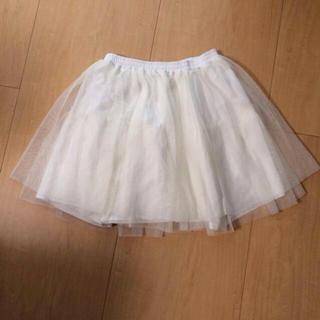 マーキュリーデュオ(MERCURYDUO)の白 チュールスカート(ミニスカート)