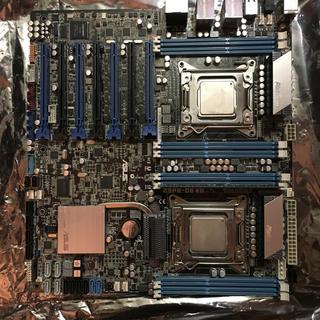 エイスース(ASUS)のASUS Z9PE-D8 WS デュアルxeon マザーボード ジャンク(PCパーツ)