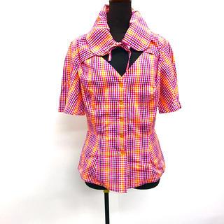 ヴィヴィアンウエストウッド(Vivienne Westwood)のVivienne Westwood チェック柄ブラウス(シャツ/ブラウス(半袖/袖なし))