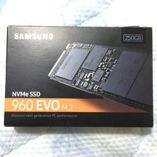 サムスン(SAMSUNG)のSamsung NVMe SSD 960 EVO M.2  250GB(PCパーツ)