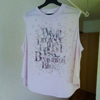 ジーユー(GU)のgu ノースリーブ Tシャツ(シャツ/ブラウス(半袖/袖なし))