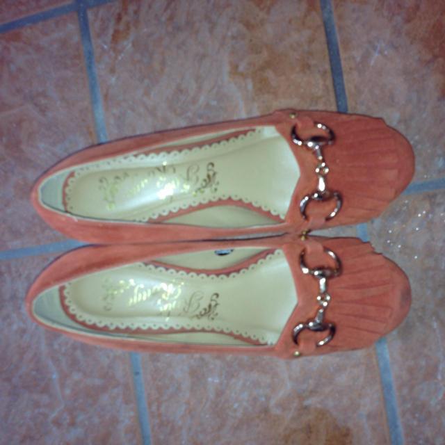 オレンジブーツ レディースの靴/シューズ(ハイヒール/パンプス)の商品写真