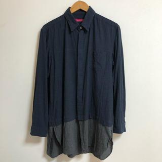 サージュデクレ(sage de cret)のSAGE DE CRET 16ss シャツ レイヤード 切替ロングシャツ(シャツ)