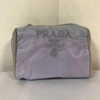 ca5b3fa964b5 プラダ(PRADA)の本物プラダPRADAナイロン刺繍ロゴミニポーチ化粧品コスメクラッチバッグ
