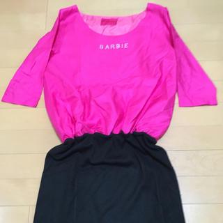 バービー(Barbie)のバービー  7分袖ワンピース(ミニワンピース)
