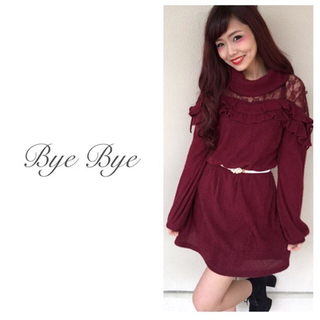 バイバイ(ByeBye)のファッション ニット ワンピース トップス Heather INGNI GRL(ひざ丈ワンピース)