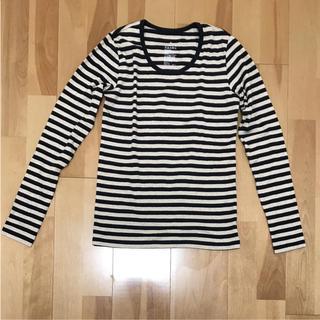 ムジルシリョウヒン(MUJI (無印良品))のボーダーカットソー Tシャツ 無印良品(Tシャツ(長袖/七分))