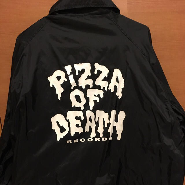 HIGH!STANDARD(ハイスタンダード)のpizza of death コーチジャケット Lサイズ メンズのジャケット/アウター(ナイロンジャケット)の商品写真