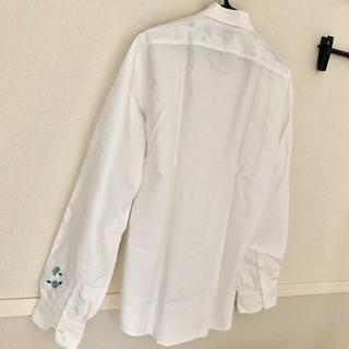 アルテア(ALTEA)のAltea アルテア フラワー刺繍Yシャツ ホワイト メンズ41(シャツ)