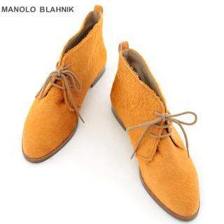 《大幅値下》★新品★マロノブラニク/ショートブーツ/オレンジ/35(ブーツ)