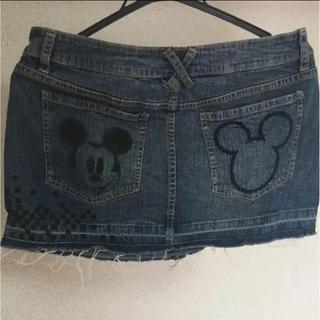 ディズニー(Disney)のミッキー デニム(ミニスカート)