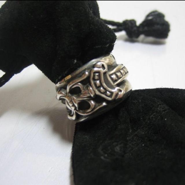 Chrome Hearts(クロムハーツ)のクロムハーツ ダガーリング  ペンダント フローラルクロス メンズのアクセサリー(リング(指輪))の商品写真