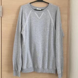 サンローラン(Saint Laurent)のサンローラン トレーナー グレー 美品 メンズM(Tシャツ/カットソー(七分/長袖))