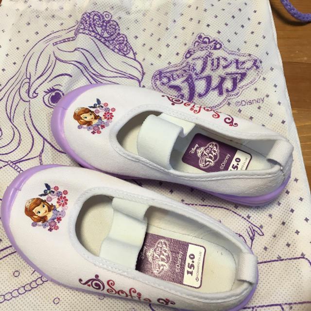 Disney(ディズニー)の翼様専用【新品未使用】ちいさなプリンセスソフィアの上履き キッズ/ベビー/マタニティのキッズ靴/シューズ (15cm~)(スクールシューズ/上履き)の商品写真