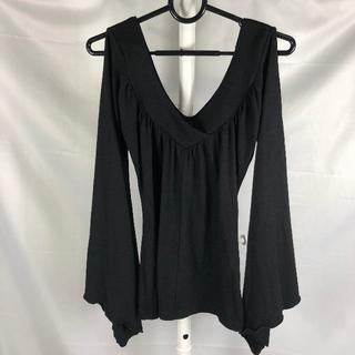 リュリュ(RyuRyu)のRYURYU 袖開き長袖Tシャツ Mサイズ 黒(Tシャツ(長袖/七分))