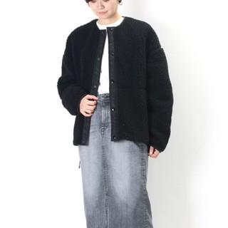 ハイク(HYKE)の【新品】今期完売 Hyke  ボアジャケット Black サイズ1(ノーカラージャケット)