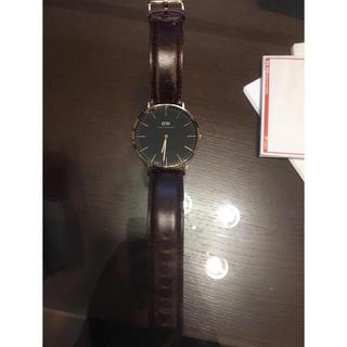 ダニエルウェリントン(Daniel Wellington)のダニエルウェリントン 40mm 黒&ピンクゴールド(腕時計(アナログ))