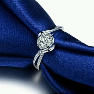☞【9号】★AAA級♥Czダイヤ銀925(リング(指輪))