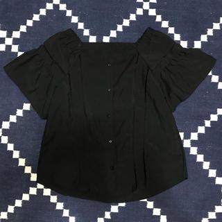 ジーユー(GU)のGU◡̈⃝ハシゴレースブラウス(シャツ/ブラウス(半袖/袖なし))