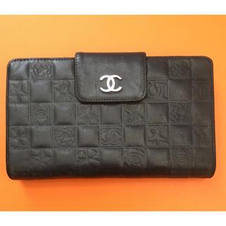 d28568749936 シャネル(CHANEL)のCHANEL 財布 アイコンライン 黒 ラムスキン(財布)