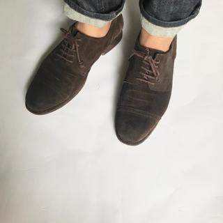 エヌディーシー(n.d.c. nom de code)のn.d.c. スウェードメンズ革靴茶色(スリッポン/モカシン)
