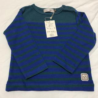 ディーフェセンス(D.fesense)の新品タグ付き♡ボーダーロンT 90(Tシャツ/カットソー)