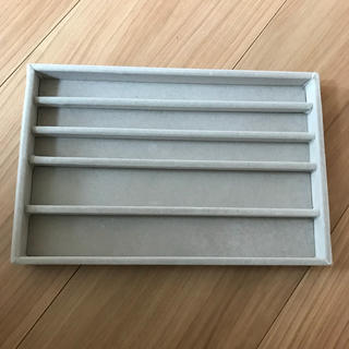 MUJI (無印良品) - 無印良品 アクリルケース用 ベロア内箱仕切 大 ネックレス用 グレー