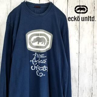 エコーアンリミテッド(ECKO UNLTD)のecko unltd ロゴTシャツ 長袖 Lサイズ(Tシャツ/カットソー(七分/長袖))