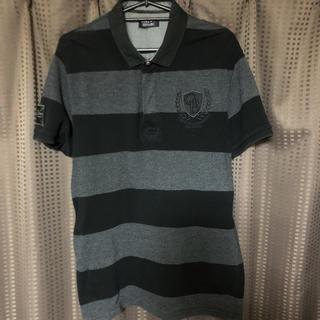 ザラ(ZARA)のZARA ザラ 黒ポロシャツ Lサイズ(ポロシャツ)