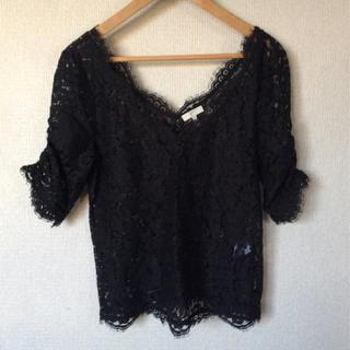 ジョア(Joie (ファッション))のJoie 黒レース(カットソー(半袖/袖なし))