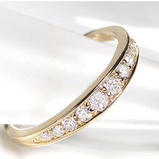 k18  10ダイヤモンド グラデーション リング(リング(指輪))